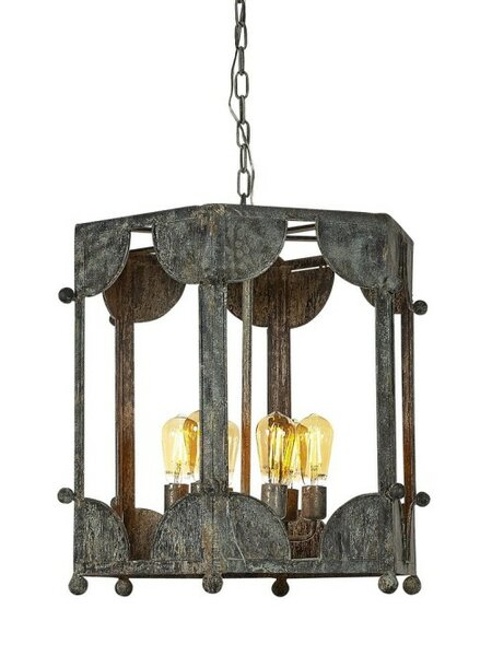 Wilmington 6 - Light Candle Style Geometric Chandelier By Ellahome