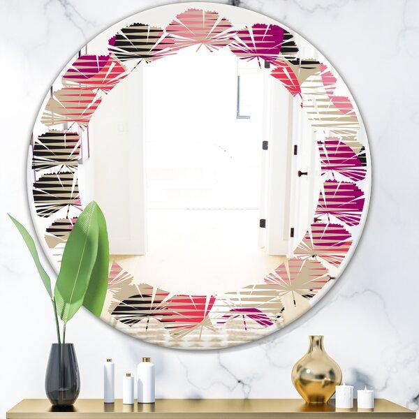 Leaves Circular VIII Modern Wall Mirror