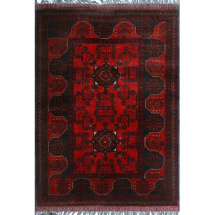 Comparison One-of-a-Kind Alsup Hand-Knotted Wool Red Are Rug By Isabelline