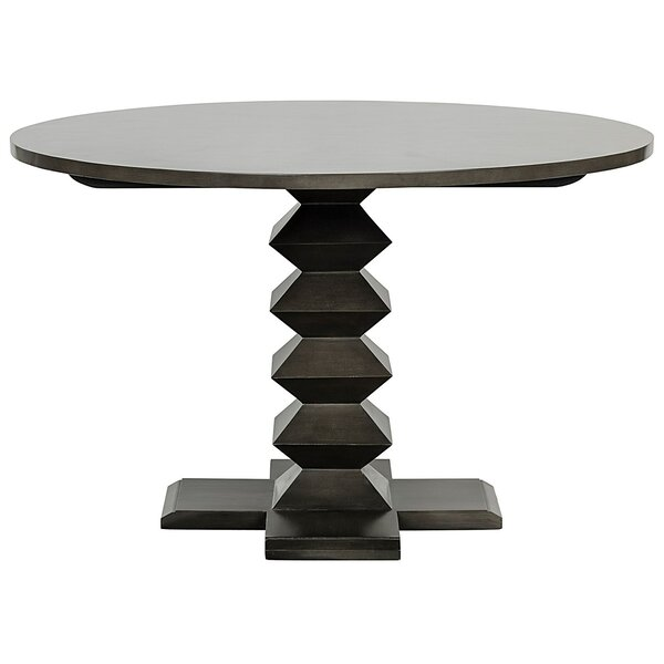 Zig-Zag Solid Wood Dining Table by Noir
