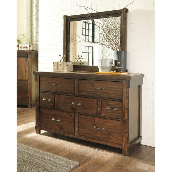 Pudsey 7 Drawer Dresser with Mirror by Three Posts