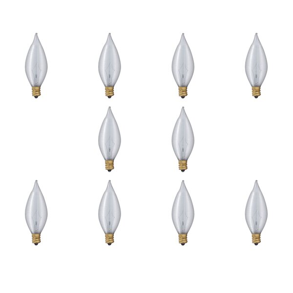40W E12 Dimmable Incandescent Light Bulb Satin (Set of 10) by Bulbrite Industries