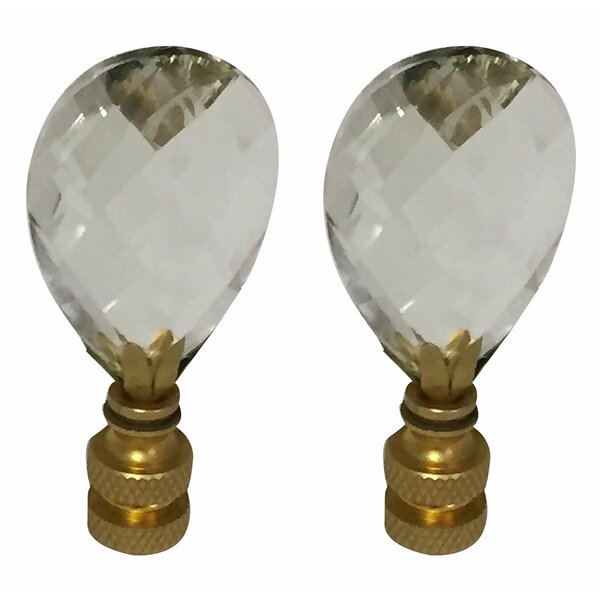 Diamond Swiss Cut K9 Crystal Lamp Finial by Royal Designs
