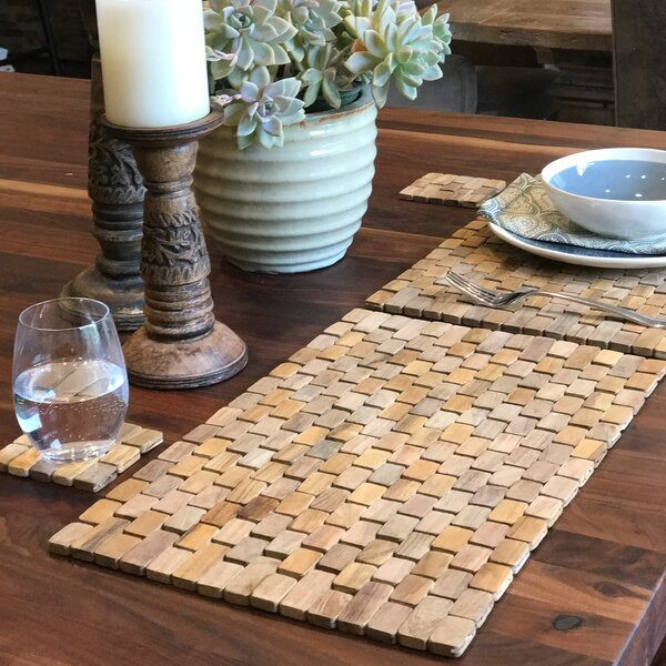 Recycled Teak Placemat Set (Set of 2) by Hip-O Modern Living