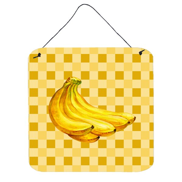 Banana Bunch on Basketweave Wall Décor by East Urban Home