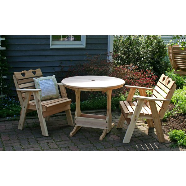 Cedar Country Hearts Bistro Set by Creekvine Designs
