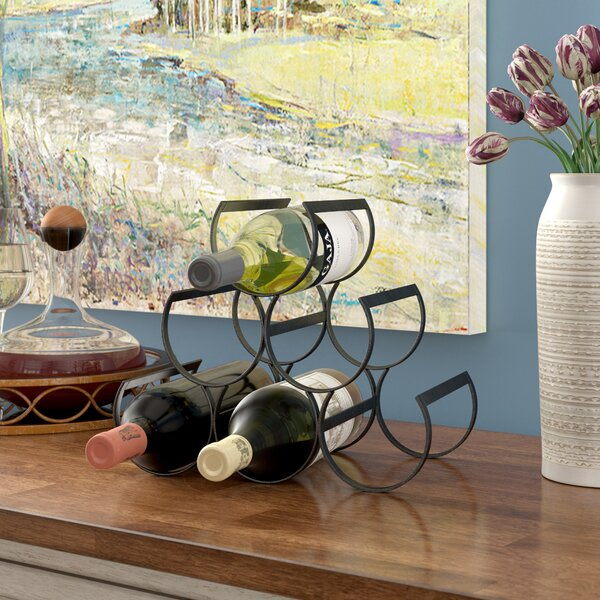 Cendejas 6 Bottle Tabletop Wine Bottle Rack By Fleur De Lis Living
