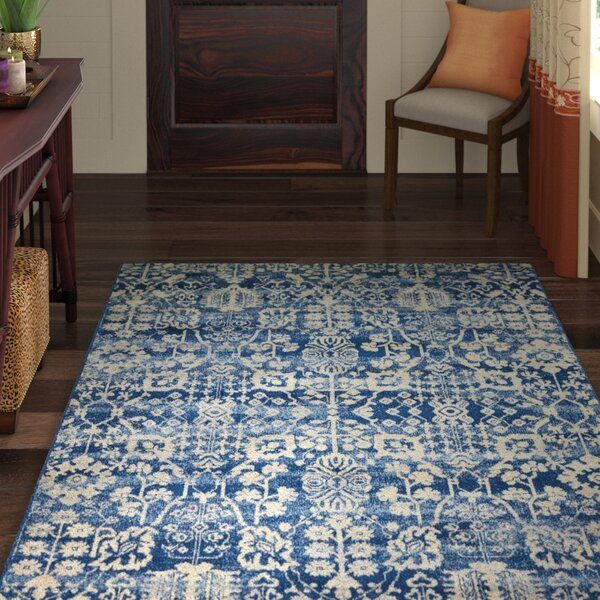 Allenvale Navy Area Rug by World Menagerie