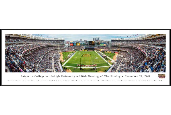 NCAA Lafayette Vs. Lehigh - 150Th by James Blakeway Framed Photographic Print by Blakeway Worldwide Panoramas, Inc