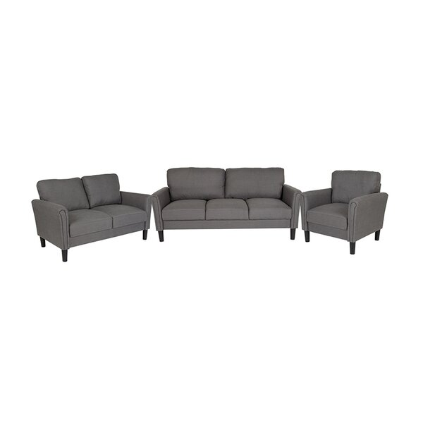 Sours Upholstered 3 Piece Living Room Set by Winston Porter