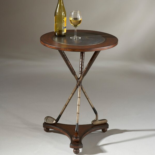 Hobson Golf Round End Table by Astoria Grand