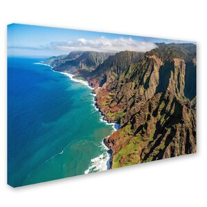 Napali Coast by Pierre Leclerc Photographic Print on Wrapped Canvas by Trademark Fine Art