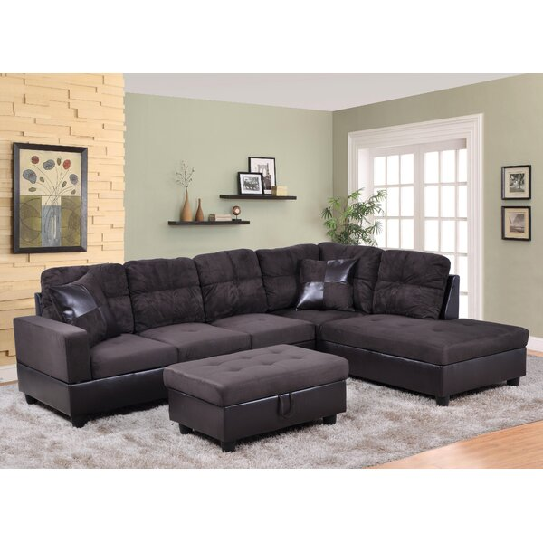#1 Massillon Sectional With Ottoman By Winston Porter Sale
