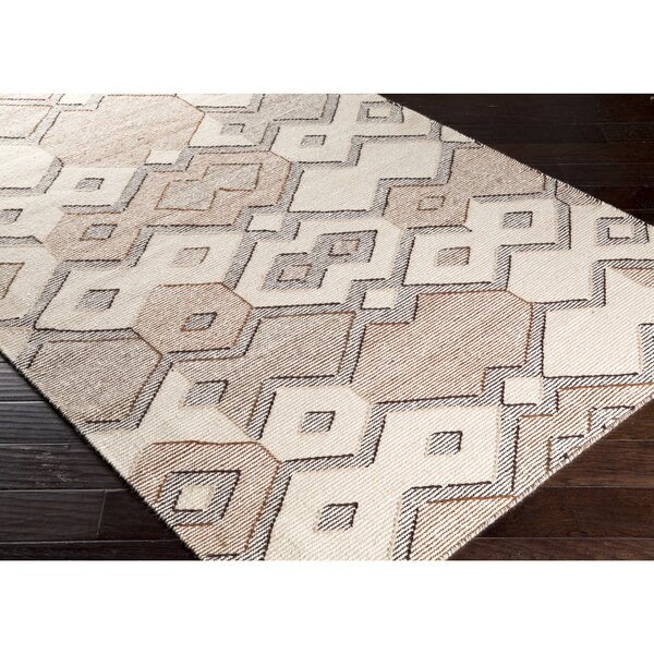 Holden Hand-Woven Neutral Area Rug by Wrought Studio