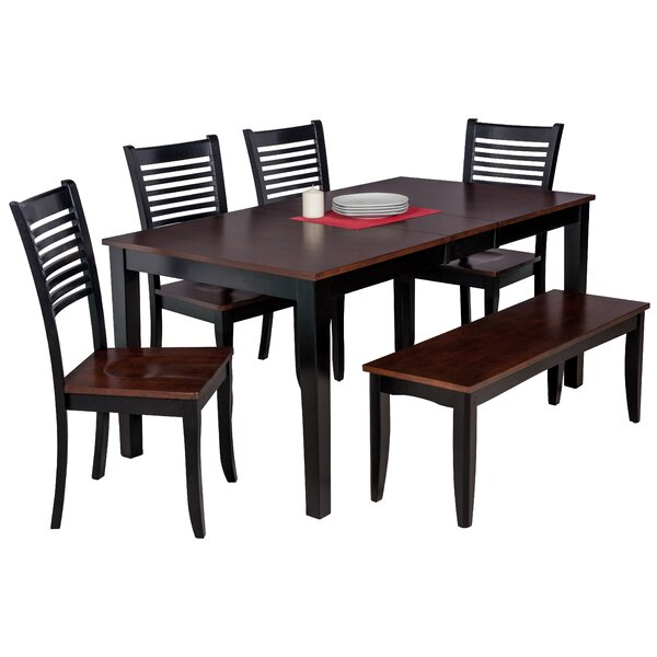 Downieville-Lawson-Dumont 6 Piece Solid Wood Dining Set by Loon Peak