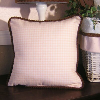 Gingham Throw Pillow by Brandee Danielle