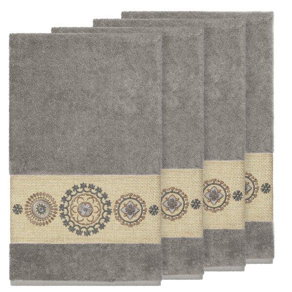 Roeder Embellished Turkish Cotton Bath Towel (Set of 4) by Winston Porter