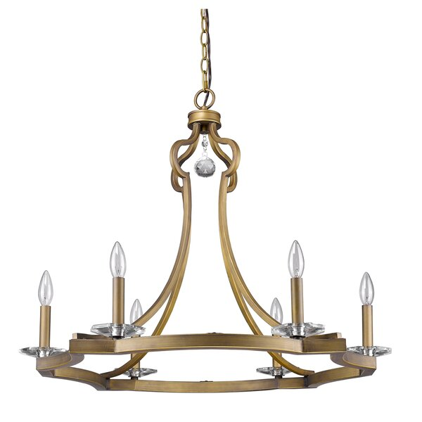 Lipsey 6-Light Candle Style Wagon Wheel Chandelier By Astoria Grand