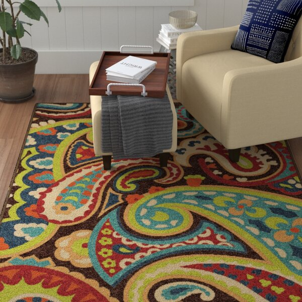Alayna Brown Indoor/Outdoor Area Rug by Winston Porter