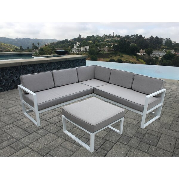 Shires 3 Piece Patio Sectional Set with Cushions by Orren Ellis