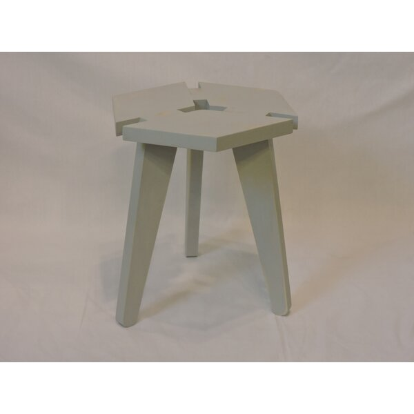 Waldon 3D Box Top Distressed Accent Stool by Wrought Studio