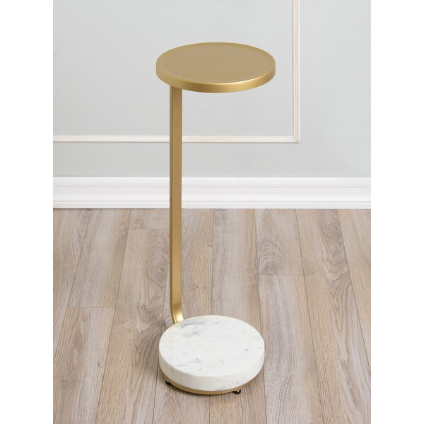 Heady Marble Top Frame End Table By Everly Quinn