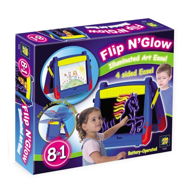 Flip n Glow Magnetic Board Easel by Amav