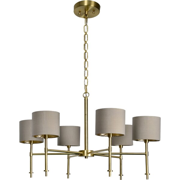 Bedwell 6 - Light Shaded Classic Chandelier by Everly Quinn Everly Quinn