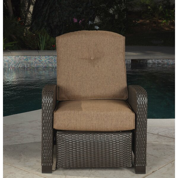Alvey Woven Recliner Patio Chair with Cushions by Alcott Hill Alcott Hill