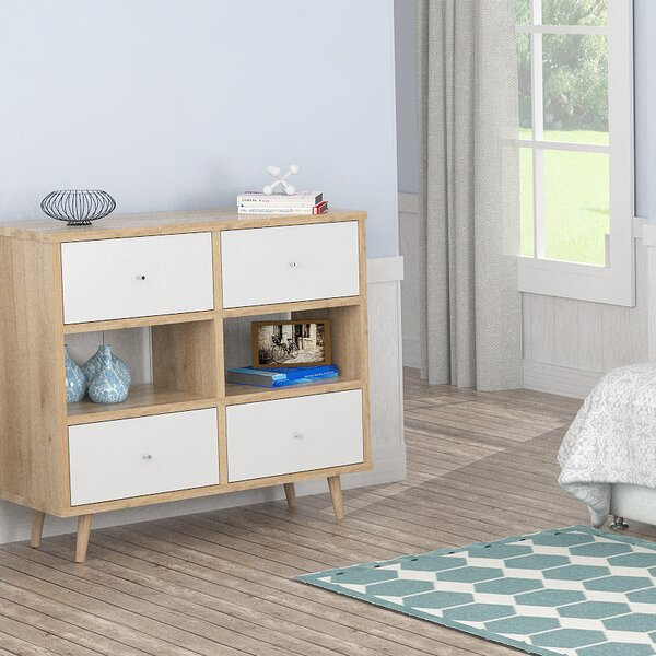 Dubuc 4 Drawer Double Dresser by Mack & Milo