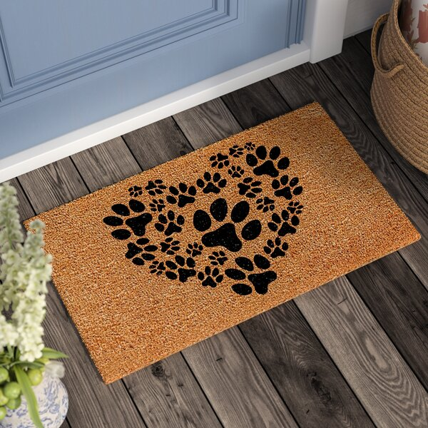 Lattimore Heart Paws Doormat by Andover Mills