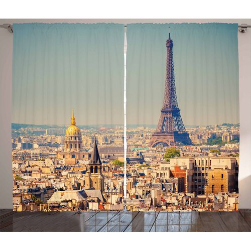Eiffel Tower Pinch Pleat Blackout Thermal Curtains East