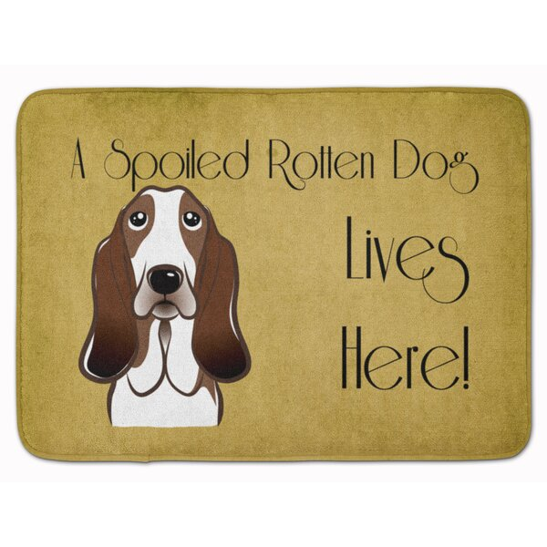 Basset Hound Spoiled Dog Lives Here Memory Foam Bath Rug
