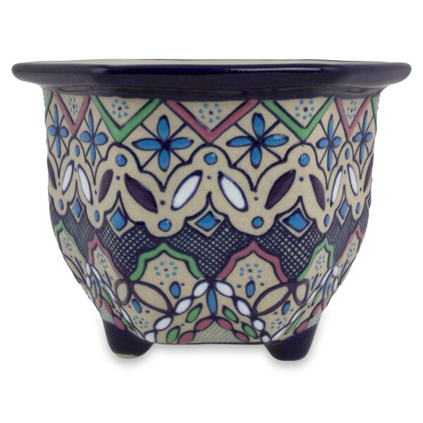 Rondon Violets Ceramic Pot Planter by Bloomsbury Market