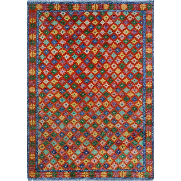 One-of-a-Kind Millender Ade Hand-Knotted Wool Red Area Rug by Bloomsbury Market