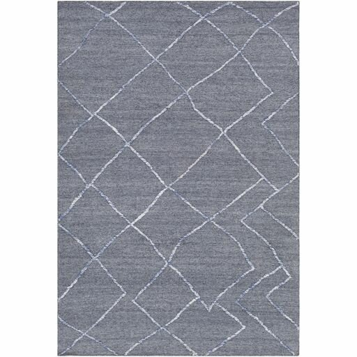 Morton Hand-Woven Navy/White Area Rug by Gracie Oaks