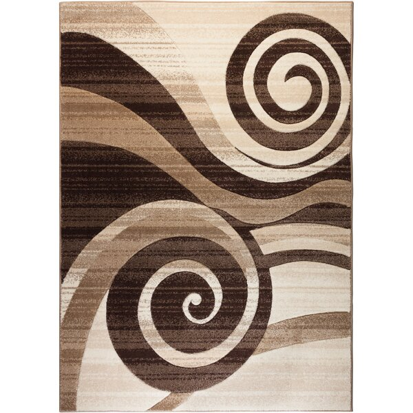 Whirlwind Brown/Ivory Area Rug by Well Woven
