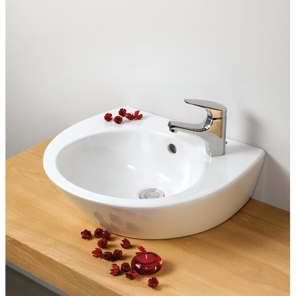Universal Vitreous China 20 Wall Mount Bathroom Sink with Overflow