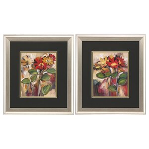 Daisy Divine 2 Piece Framed Painting Print Set by Propac Images