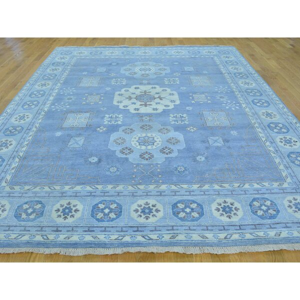 One-of-a-Kind Beauchemin Denim Hand-Knotted Blue Wool Area Rug by Isabelline