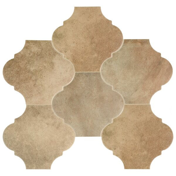 Mezcla 10.38 x 11.38 Porcelain Field Tile in Provenzal Sand by EliteTile