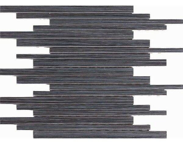 Bambu 12 x 12 Porcelain Mosaic Tile in Black by Kellani