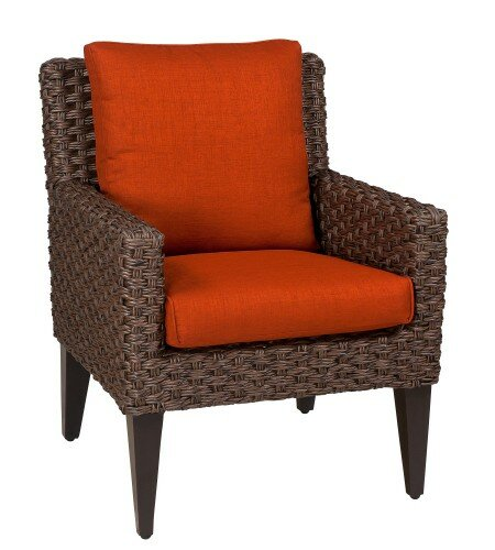 Mona Patio Dining Chair with Cushion by Woodard