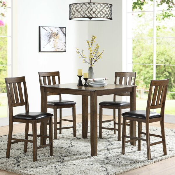 Skaket 5 Piece Counter Height Dining Set by Red Barrel Studio Red Barrel Studio