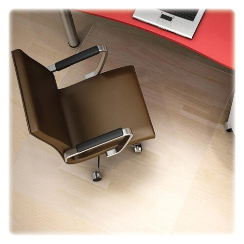 Polycarbonate Hard Floor Straight Edge Chair Mat by Deflect-O Corporation