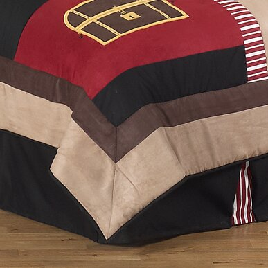 Pirate Treasure Cove Queen Bed Skirt by Sweet Jojo Designs