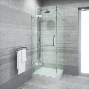 Monteray 36 x 36-in. Frameless Shower Enclosure with .375-in.