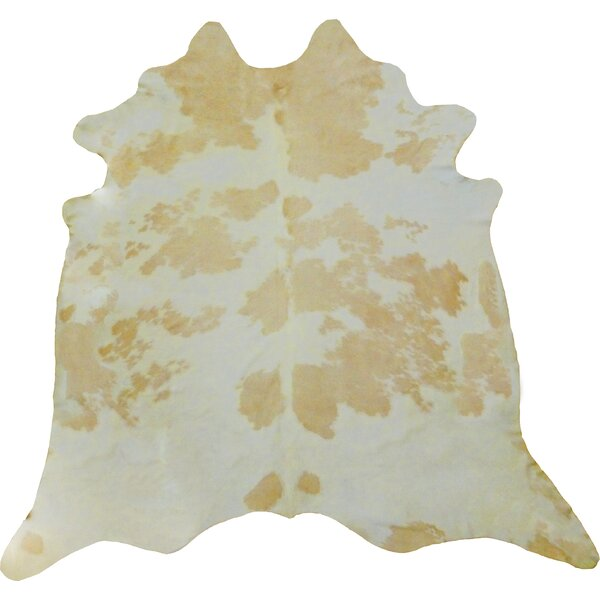 Large Brazilian Cowhide Beige/Off -White Area Rug by Chesterfield Leather