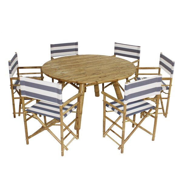Whitson Bamboo 7 Piece Dining Set by Bay Isle Home