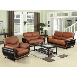 Donahue 3 Piece Living Room Set